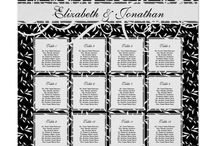 Wedding Seating Charts / It's easy to customize these beautiful wedding seating charts to perfectly match your color scheme!