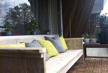 Loungebank steigerhout / Mooie en comfortabele banken en in tegenstelling tot vele andere meubelen van steigerhout, is dit echt een hele fantastische kwaliteit! www.meubelenvansteigerhout.nl