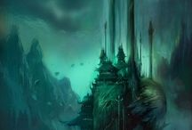 Fantasy and sci fi landscapes