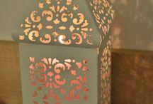 Moroccan vintage metallic lantern
