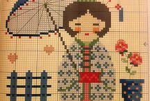 Cross stitch geiha