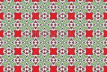 White edge pattern / Color vector patterns