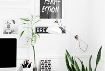 INTERIOR DETAILS | WORKSPACE / Beautiful home office and stylish workspaces