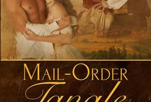 MAIL ORDER TANGLE / The boxed duo set of MAIL ORDER RUCKUS by Jacquie Rogers and MAIL ORDER PROMISE by Caroline Clemmons, both western historical romances featuring cousin heroes and sister heroines.