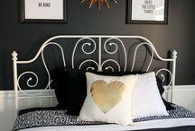 Girl black and white room