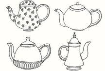 tea pots and teacups