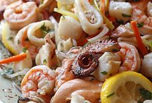 Sea food dishes