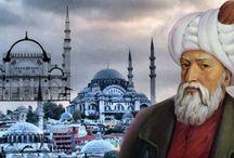 MİMAR SİNAN ☾☆ / Mimar Sinan(1490-1588) Kayseri'nin Ağırnas köyünde doğdu. Yavuz Sultan Selim zamanında devşirme olarak İstanbul'a getirildi. Zeki, genç ve dinamik olduğu için seçilenler arasındaydı.