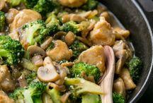 Kip groente roerbak
