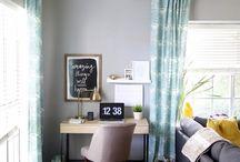 Office in living room ideas