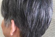 kort grijs haar