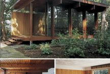 modern cabin  / somebody help me build a modern cabin in the woods... / by Elle Moss