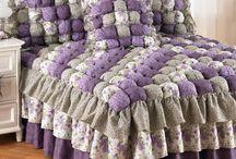 Colchas de crocher e de tecidos!!
