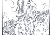 COLOURING PAGES - ART