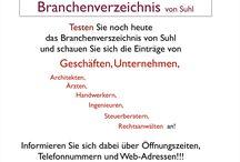 Suhler-Branchen / Hier finden Sie Öffnungszeiten, Telefonnummern, Web-Adressen von Geschäften, Unternehmen, Handwerker .......
