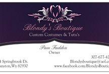 Tutus,costumes and more Oh My!!! / Blondy's Boutique  / by Pam Fadden
