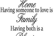Home and Family / Uniqueness of relationships
