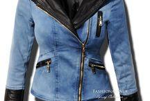 Kurtka Damska Jeans Skóra Ramoneska Wiosna Lato 2016 #113 fashionavenue.pl / Kurtka Damska Jeans + Skóra Ramoneska Wiosna Lato 2016 model #113 w sklepie www.fashionavenue.pl