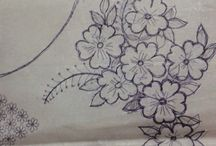 embroidery sketches