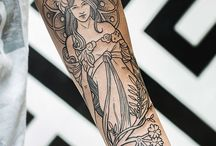 Alfons Mucha tattoo