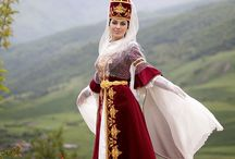 Caucasus Mountains / The mountains, people, food, native dress, and especially the handmade clothing of exotic and remote Kabardino-Balkaria.