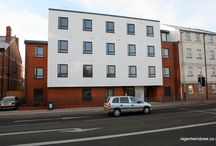 Swindon Road, Cheltenham 2010 / This is some Commercial work we did for the Markey Group. Planners insisted that the windows matched those of the Holiday Inn Express over the road. Holiday Inn had used Aluminium for their windows, but unfortunately the budget was not available for Aluminium to be used on our project. We put our heads together with our PVC profile supplier and colour-matched a foil to the work over the road.