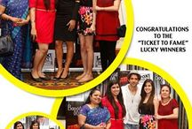 A day of stardom to remember! / A day of stardom to remember!   Baggit 'Ticket to Fame' contest winners had a fun evening session with the superstars of the movie BangBang, Hrithik Roshan and Katrina Kaif. Here are the names of the four lucky winners who got a chance to meet the superstars. We have some pictures for you too..Enjoy!