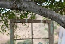 παλια παραθυρα και πορτες διακοσμηση κηπου