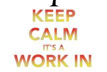 Keep Calm Work In Progress / Os mostramos pedacitos de nuestro proceso creativo y productivo: ¡es artesanía baby!