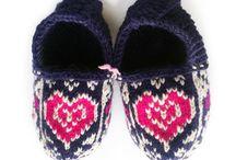 Children's wool slippers
