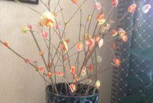 Fleurs de papier bouquets.... / Modèles et tutos de fleurs papiers