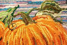 Rug Hooking Pumpkins / by Sylvia Gauthier