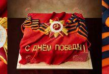 Праздничные украшение тортов.