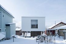 LUXURY MODERN HOMES IN THE SNOW / When there's barely a speck of snow to be found in Finland, we find ourselves dreaming of great thick piles of the stuff....all topped off by the best architecture to be found in luxury modern home design.