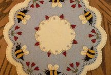 Wool applique and punchneedle / by Terri Riffle