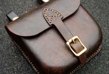 Belt bag / Beautiful leather things. Inspiration for a belt bag.