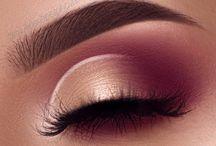Rose gold/pink makeup