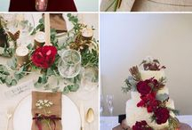 ślub kolor burgund