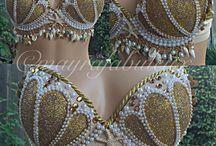 Gold mermaid costumes