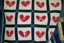 Heart theme quilt