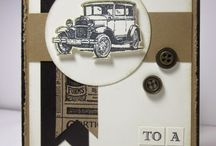 Guys Greetings Stampin Up! / Stampin Up!, stamping, crafts, dads, guys, cars, bow ties, birthday, all occasion, father