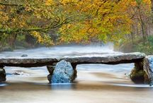 The Tarr Steps across the River Barle in Exmoor National Park, Somerset #HeathrowGatwickCars.com