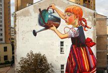 Sztuka ulicy / Street art  murale  artyzm WOLNOŚĆ
