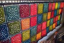 Crochet curtain