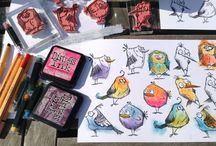 Cards - Crazy Birds / by Jessie