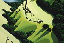 digital landscape (+Eyvind Earle)