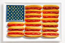 USA National Food Flag / Food that reminds you of the USA. Essen, dass dich an die USA denken lässt. Schwer verkennbar!