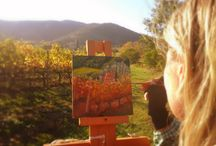 Plein Air Painting / Me and my days full of magic with plein air painting in Val d'Orcia, around Montalcino, Siena, Chianti area, San Quirico d'Orcia, Pienza.