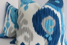 PIllows - blue and white