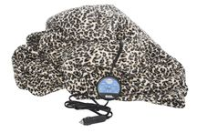 COMFY CRUISE® 12 volt heated travel blanket(three colors: leopard, navy and plaid) / Stay warm on cold winter days!